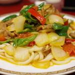 火焔山 - ラグメン(油かけ肉入り混ぜ麺)