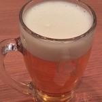 魚串さくらさく - 最初のビール