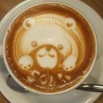 ソルズコーヒー ロースタリー - 忙しくなければ動物などの可愛いラテアートもOKだそうです( ´∀`)