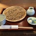 丹生庵 - 「ざるそば(大盛り)」1,080円