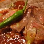 鮨菜旬炉料理 笑和 - 和牛サーロインの朴葉焼