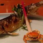 鮨菜旬炉料理 笑和 - 鮎塩焼