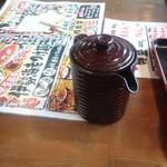 竹本商店 つけ麺開拓舎 札幌店 - スープ割り用のスープ