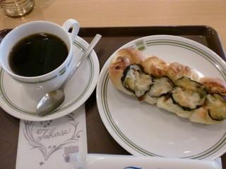タカセ 巣鴨店 - コーヒーと茄子のパン