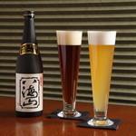 呵呵 - 新潟の銘醸が生みだす「八海山泉ビール」(左:アルト 右:ヴァイツェン)