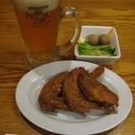 日本橋焼餃子 - 晩酌セットB:\1050円