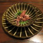 東京チャイニーズ 一凛 - ホタルイカの瞬間蒸し、中華セロリ 葱と山椒のソース1