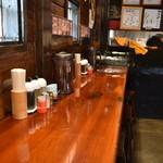 麺屋 蔵人 - カウンター席