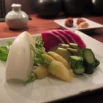 酢重ダイニング 六角 - 酢重のお味噌と新鮮野菜の盛り合わせ