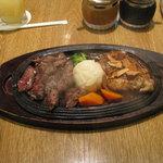 ベリーグッドマン - グッドマンステーキ100g+チキンガーリック