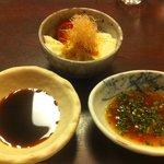 太郎源 - お通し 豆腐サラダ