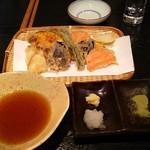 手打蕎麦 義 - 野菜の天ぷら