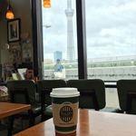 タリーズコーヒー - 景色とペーパーカップ