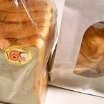 美瑛小麦工房 - ゆめちから食パン360円とバターロール216円