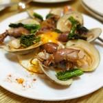 エルチリンギート - 富山産ホタルイカ、蛤、菜の花のサルテアード