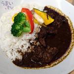 49928261 - 「黒カレー(信州牛ゴロゴロ) 信州味噌スープ(ミニ)付き」 1,480円
