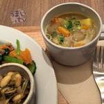 横町カフェ - 「信州米豚デリプレート」味噌汁、お惣菜、ご飯付き  1,280円