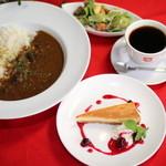 curry cafe SABURO - ケーキセットランチ(カレー、サラダ、ドリンク付)