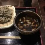 宗平 - 鴨とキノコのつけざるそば¥950(二枚盛り)