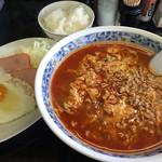 49930177 - ラーメン定食850円、タンタン麺中辛