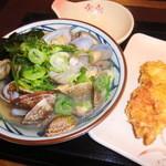 丸亀製麺 - 春のあさりうどん・温並