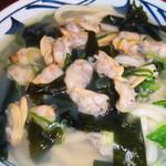 丸亀製麺 - アサリたっぷり♡