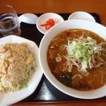 台湾料理 鴻起順 - 2016.4.18台湾味噌ラーメンのチャーハンセット800円
