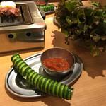 大阪焼肉・ホルモン ふたご - きゅうり一本