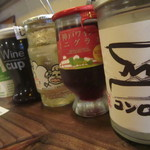 大衆肉処酒場 コンロ家~霜降り和牛鍋と神戸牛ホルモン鉄板焼~ - カップワインも豊富!