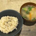 クリックアンドクラック - 玄米+お味噌汁