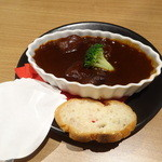 焼肉トラジ - ちょこっと牛タンシチュー500円