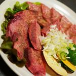 焼肉カネヤス - 料理写真:<「特選牛タン」(1300円)>