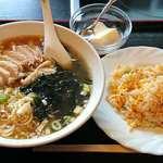 好味苑 - 好味苑 @本蓮沼 日替わりランチセット 鶏肉麺 500円(税込)