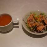 ダウラギリ - スープとサラダ