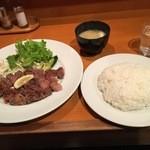 ファイヤープレート - リブステーキ?定食