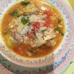 アガノ - チキンとトマトの雑炊風リゾット