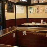 """大衆酒場 ふくろ - """"コの字""""カウンターとテーブル席のワン・フロア"""