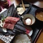 49953861 - ほうば味噌定食(飛騨牛のせ)