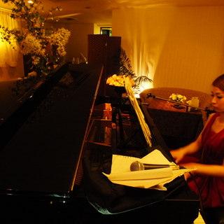 多彩なサービスをご用意!ピアノの生演奏やサプライズも◎