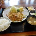 ママずきっちん - 料理写真:豚肉の生姜焼き定食