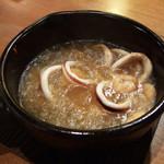 あらた喰楽部 - 海老と季節野菜のアヒージョ