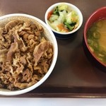 すき家 - 牛丼、豚汁おしんこセット