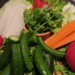 串揚げ料理 みや田 - 綺麗な野菜たち