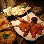 串焼旬菜 楽 - 串焼き等