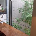 CAFE HERON - 2階のカウンター席。