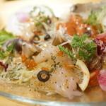 炭焼バル SACHI - サラダカルパ盛り