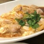 鳳雛 - 鶏肉の卵とじ 親子丼の上のみに近いです。