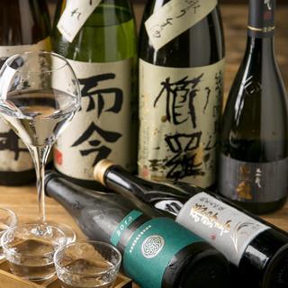 【日本酒にこだわる】地酒、銘酒常時20種類以上!