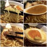 麺者 服部 - 麺は細麺ストレート チャーシュー大きめ 玉子はベルガモットの香り