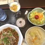 十文字カフェ - 今日のランチ〜まぜ蕎麦(*^^)v